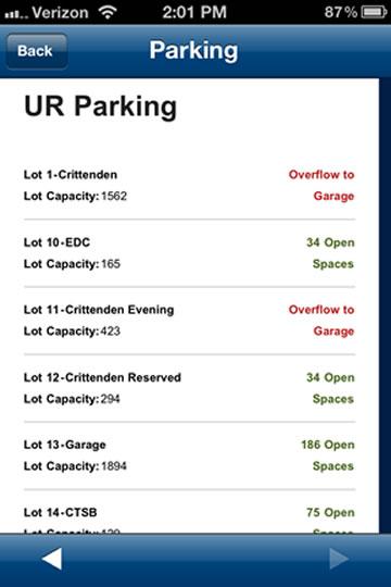 URMC Parking Availability